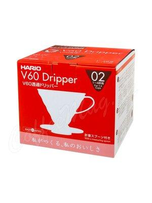 Hario Воронка Пластиковая для приготовления кофе 4 порции Красная (VD-02R)