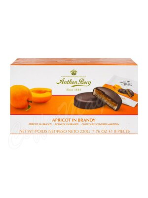 Anthon Berg Шоколадные конфеты с марципаном абрикос в бренде 220 г