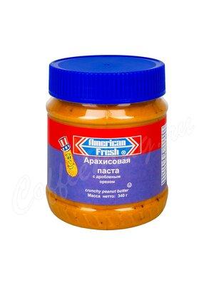 American Fresh Crunchy Паста арахисовая с дробленым орехом 340 г