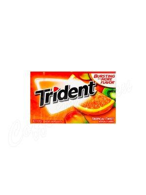 Жевательная резинка Trident Tropical Twist Тропический твист