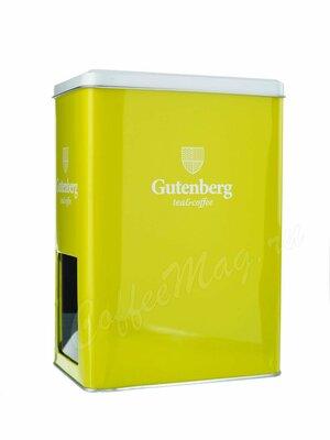 Банка Gutenberg для хранения чая салатового цвета с окошком на 1 кг