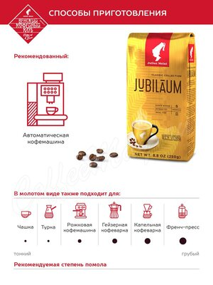 Кофе Julius Meinl в зернах Юбилейный 250 г
