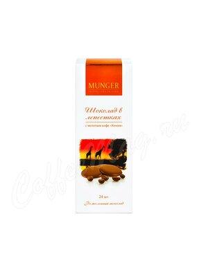 D.Munger Шоколад в лепестках с молотым кофе Кения Kaiguri 50 г /24 шт