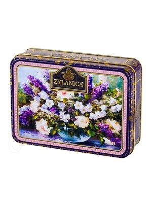Чай Zylanica Шкатулка с цветами Purple Super Pekoe черный 100 г