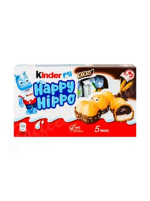 Батончики Kinder Happy Hippo Cacao 103 г (Бегемотик )