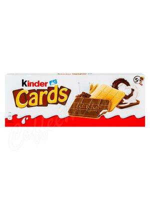 Пирожное Kinder Cards с нежной начинкой 5 шт х 25,6 г