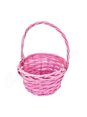 Корзина плетеная маленькая розовая