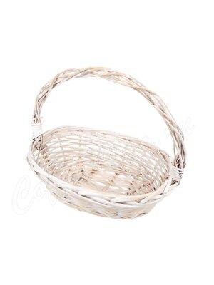 Корзина плетеная белая малая Ива YM-316103