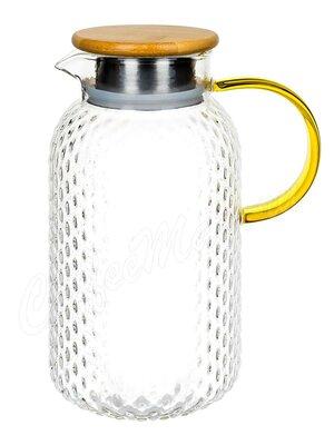 Кувшин с желтой ручкой стекло 1400 мл (S-675)