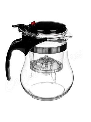 Чайник проливной с красной кнопкой Teapot 1200 мл (33D1297)