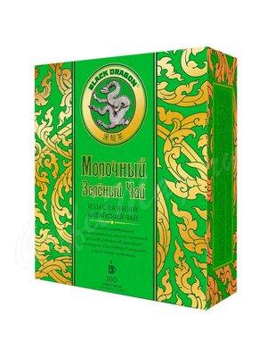 Чай Черный Дракон Молочный зеленый 100 пак