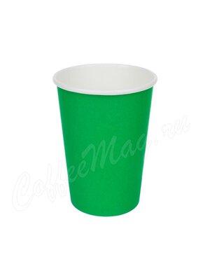 Стакан бумажный D.R.V. зеленый 300 мл D90 (50 шт)