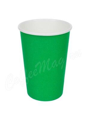 Стакан бумажный D.R.V. зеленый 400 мл D90 (50 шт)