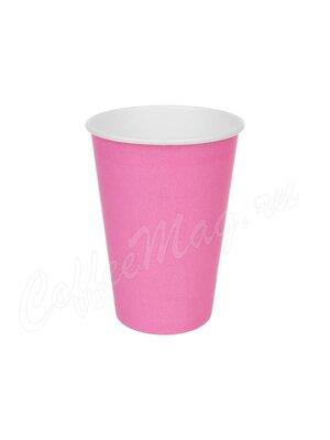 Стакан бумажный D.R.V. Розовый 250 мл D80 (50 шт)