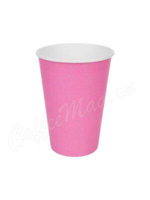 Стакан бумажный D.R.V. Розовый 300 мл D90 (50 шт)