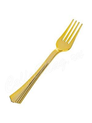 Complement Вилка пластиковая 17.5 см Золотая (Shine) 1уп-6шт
