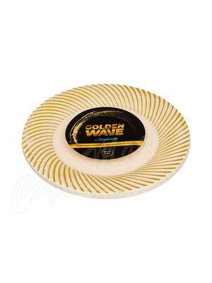 Complement Тарелка пластиковая бежевая Golden Wave d-180 мм (1уп-6шт)