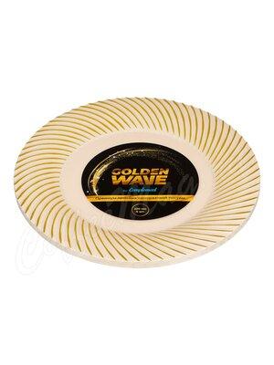 Complement Тарелка пластиковая бежевая Golden Wave d-230 мм (1уп-6шт)
