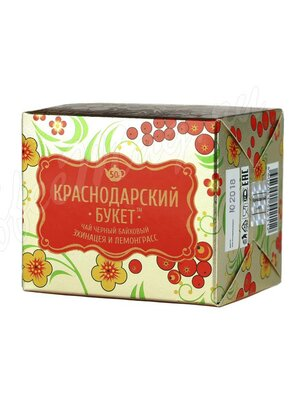 Чай Краснодарский букет черный с эхинацеей и лемонграссом 50 г
