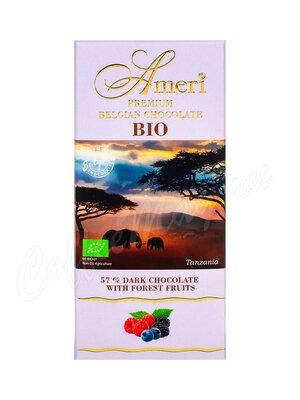 Ameri BIO Горький шоколад 57 % с лесными ягодами плитка 100 г