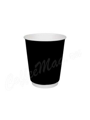 Стакан бумажный D.R.V.  Двухслойный Черный лак 250 мл (24 шт)
