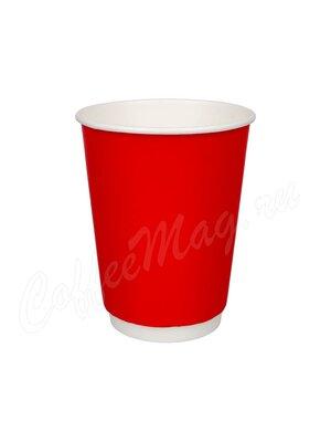 Стакан бумажный D.R.V. Двухслойный Красный лак 300 мл (20 шт)