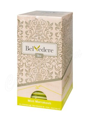 Чай Belvedere Мятный Марракеш зеленый в пакетиках 25 шт * 1,5 г
