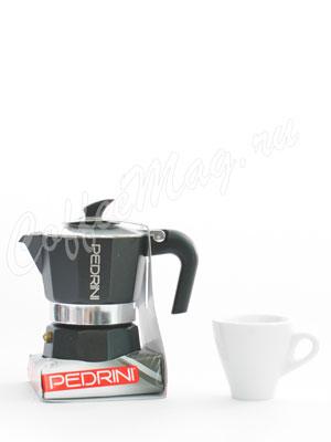 Гейзерная кофеварка Pedrini на 3 порции (120 мл)
