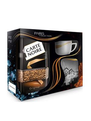 Кофе Jacobs Carte Noire 190 гр ст/б+бокал