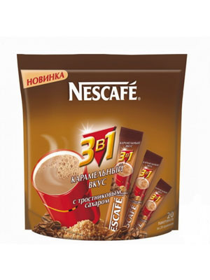 Кофе Nescafe 3 в 1 Карамель 20 шт по 20 гр
