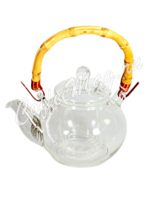 Чайник стеклянный  Хризантема (350 мл)