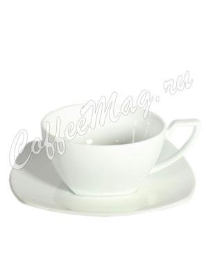 Чайная пара Brentea фарфоровая (квадратная) 150 мл