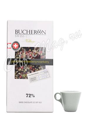 Шоколад Bucheron горький 100 гр ( клюква, клубника, фисташки)