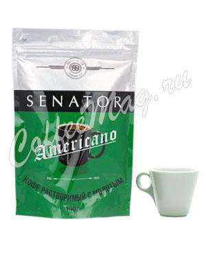Кофе Senator натуральный растворимый сублимированный с добавлением молотого Americano 100 гр