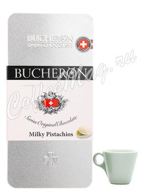 Шоколад Bucheron Молочный с фисташками 100 гр в мет. пенале