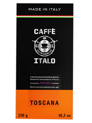 Кофе Italo молотый Toscana 250 гр (ж.б.)