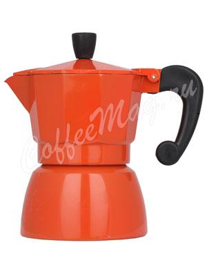 Гейзерная кофеварка Hot Оранжевая 3 порции (120 мл)