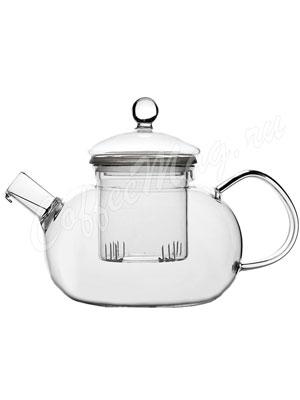 Чайник стеклянный Фиалка 600мл Е-031