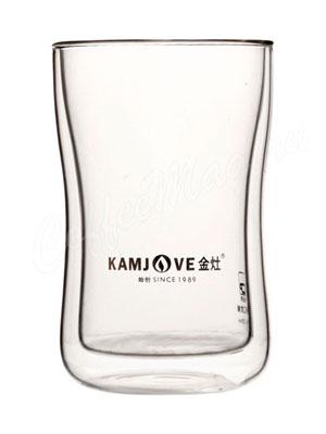 Необжигающая чашка-термос KamJove из жаропрочного стекла 250 мл