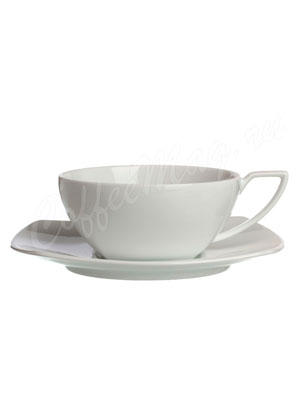 Чайная пара фарфоровая Brentea (квадратная) 150 мл