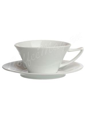 Чайная пара фарфоровая Brentea (круглая) 200 мл