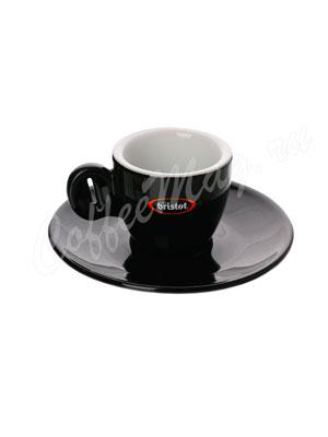 Чашка Bristot Tiziano Black для эспрессо (черная) 60 мл