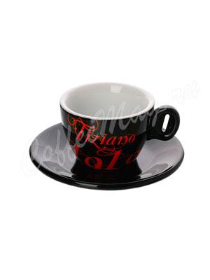 Чашка Bristot Tiziano Black для капучино (черная) 150 мл