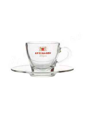 Чашка Attibassi для капучино 150 мл (прозрачная)