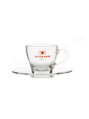Чашка Attibassi для эспрессо 50 мл (прозрачная)