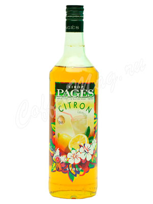 Сироп Pages Лимон 1 литр