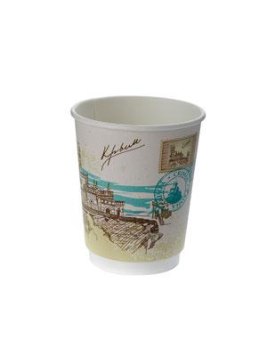 Стакан бумажный Thermo Cup двухслойный 250 мл Города