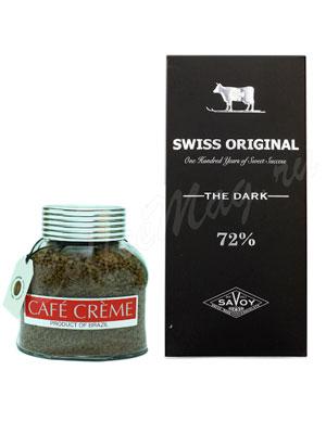 Подарочный набор Cafe Creme и Swiss Original горький шоколад