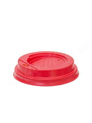 Крышка для бумажных стаканов с питейником 80 мм (Красная)