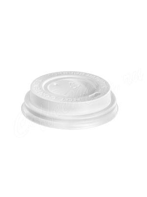 Крышка для бумажных стаканов с питейником 70 мм (Белая)